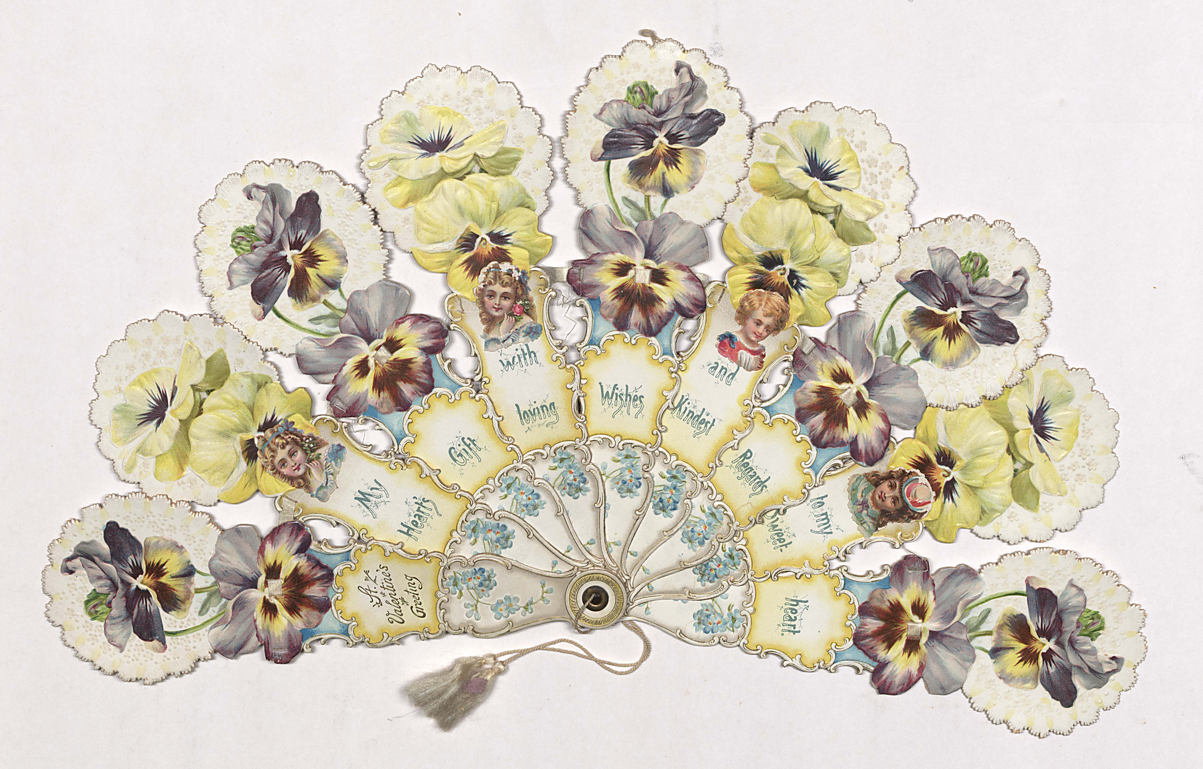 Hand fans in john and carolyn grossman collection winterthur st valentines greeting m4hsunfo
