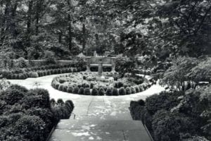 The Box Scroll Garden, ca. 1932, one of the formal garden areas at Winterthur