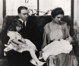 H. F. and Ruth du Pont with daughters Pauline Louise and Ruth Ellen, 1922