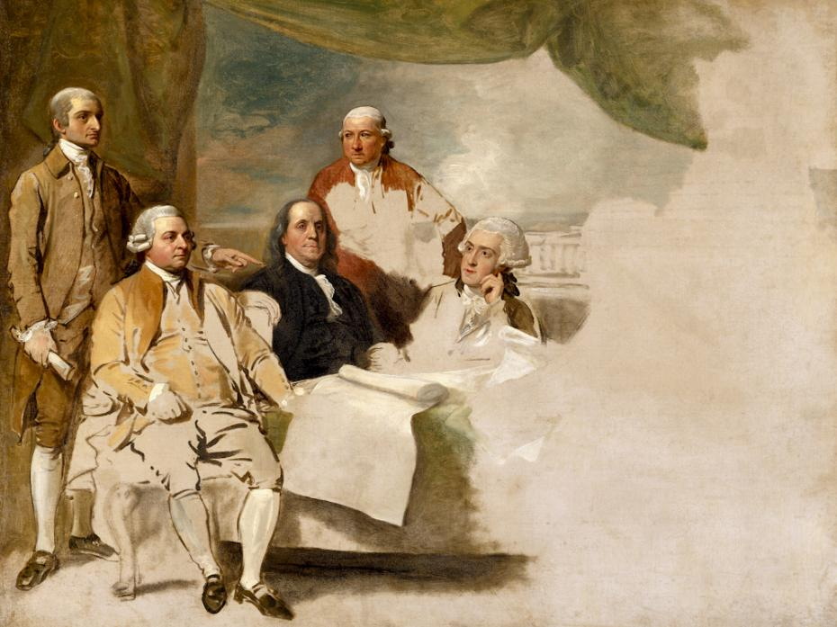 painting - American Commissioners of the Preliminary Peace Negotiations with Great Britain