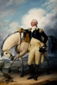 portrait of Washington and horse