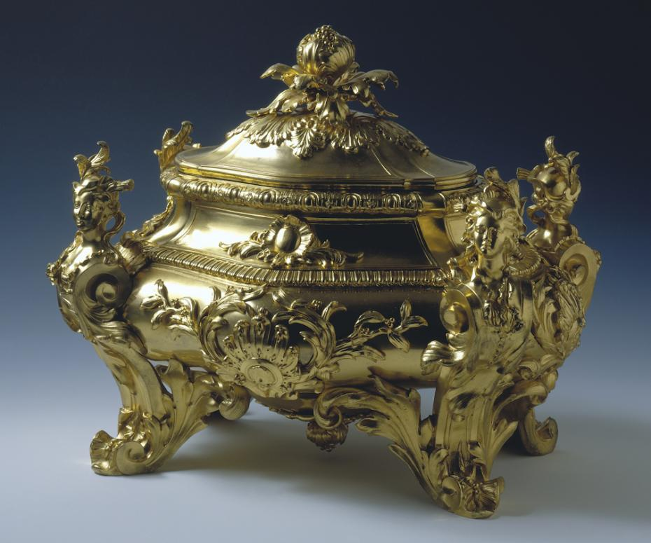 golden soup tureen