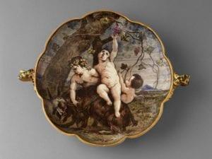 ceramic bowl bacchanalia