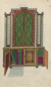 illustration of book case