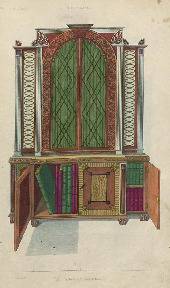 illustration of book case