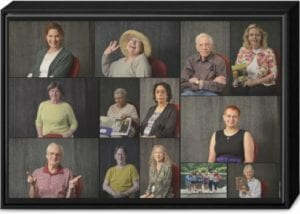 volunteer portraits montage