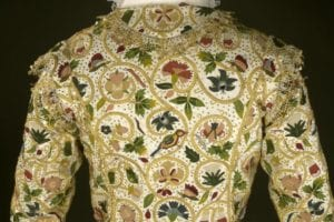 embroidered jacket back closeup