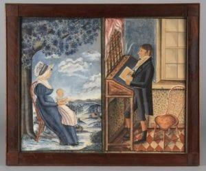 Portrait of Samuel Ensminger, Jr. and Portrait of Mrs. Samuel Ensminger, Jr. (Elizabeth Summy) and child,