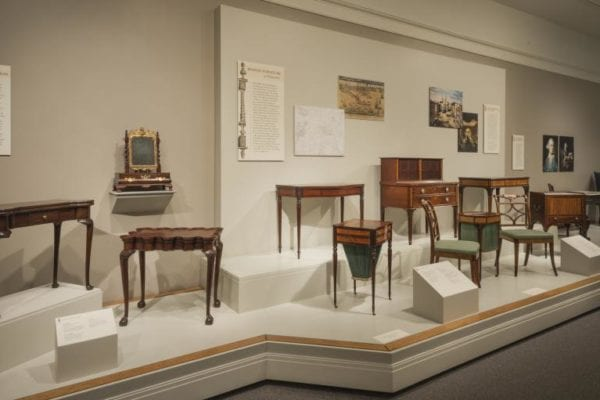 exhibition display from Boston Furniture at Winterthur