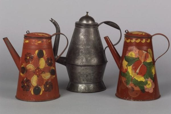 tinware coffee pots