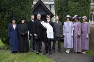 downton abbey group shot with baby