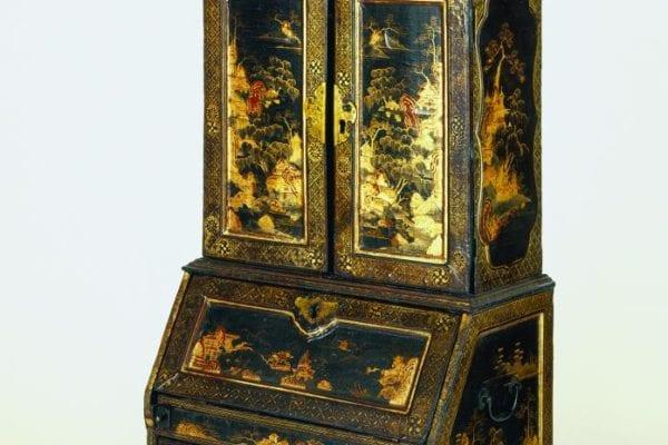 Miniature desk-and-bookcase