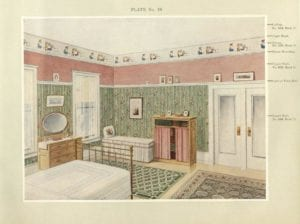drawing of a bedroom