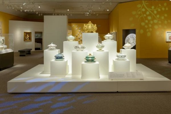 Tureens on display in the Dining by Design exhibition