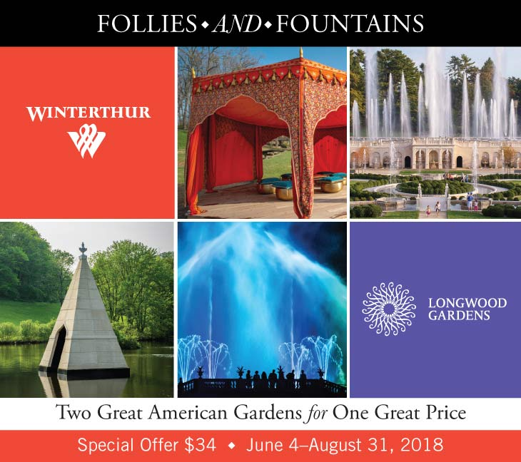 Follies and Fountains - Two Great American Gardens for One Great Price