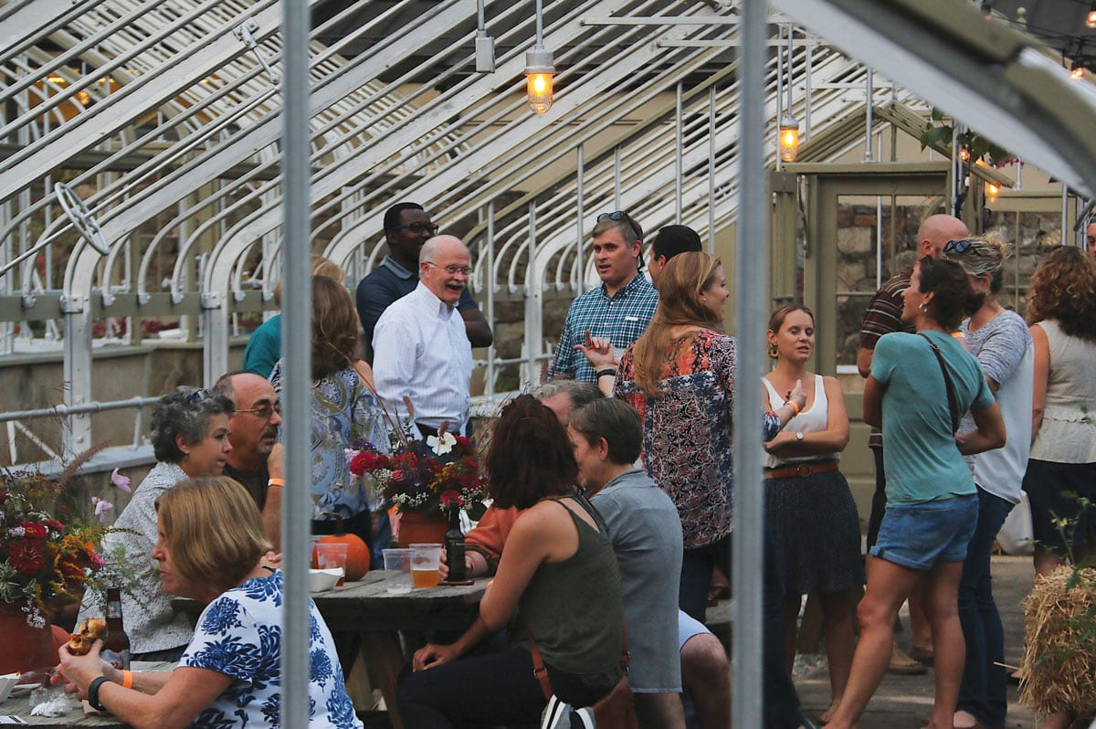 Winterthur After Hours in the Greenhouse.