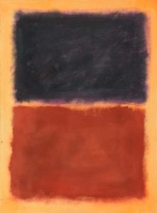 Knoedler Rothko painting featuring a black area and a red area