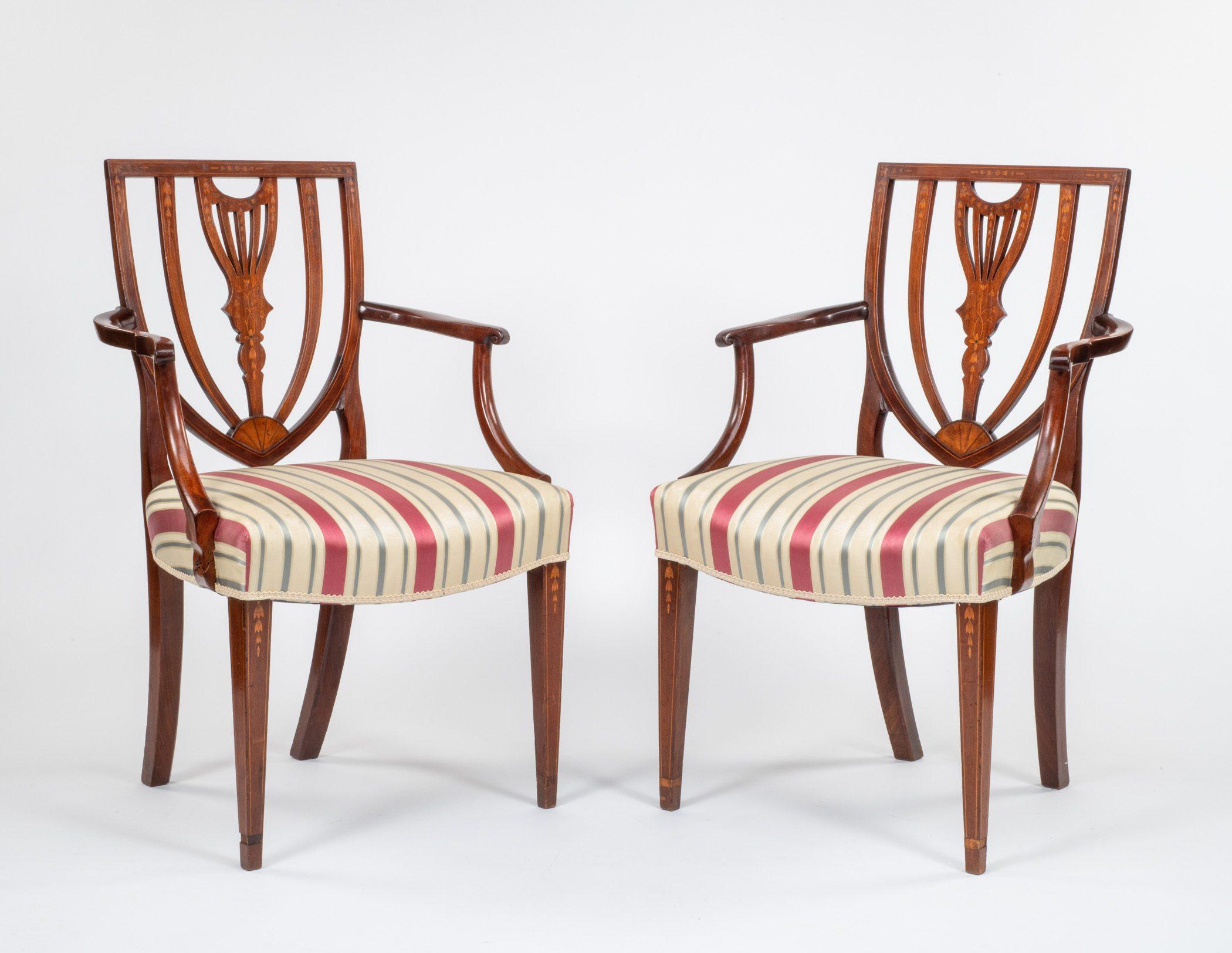 A pair of chairs made for Alexander Hamilton and his wife.