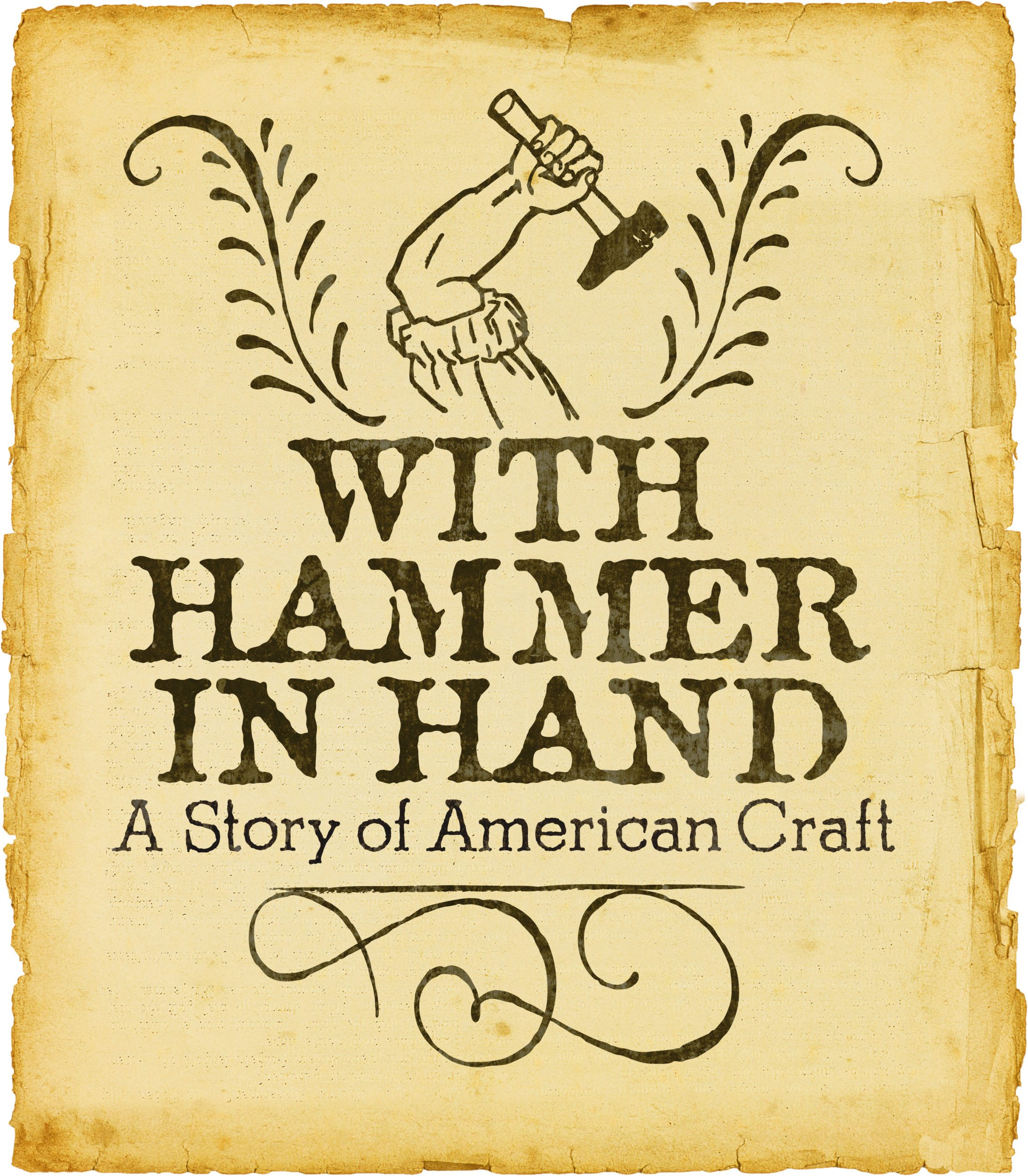 Logo for exhibition With Hammer in Hand: A Story of American Craft